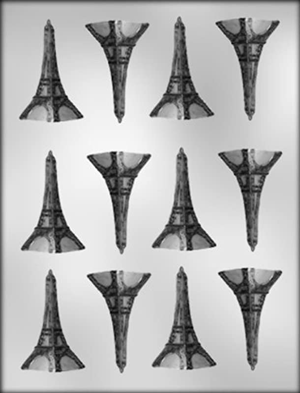 CK Products 2 Inch Eiffel Tower Chocolate Mold