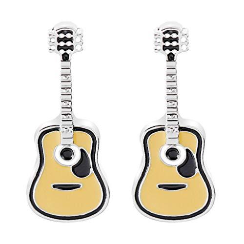 CoSunny Anstecknadel Gitarre 2-teiliges Set Emaille Brosche Anstecker Anzug Hemd Pullover Rucksack Zubehör Abzeichen Geschenke
