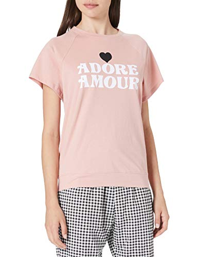 Women' Secret Pijama Largo Manga Corta algodón, Rosa, M para Mujer