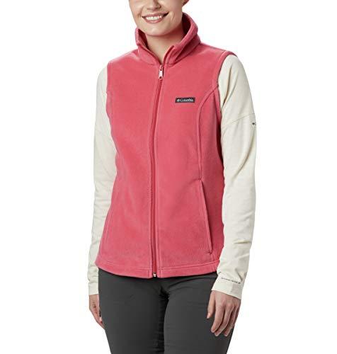 Columbia Women's Benton Springs, Soft Fleece Vest, Classic Fit, Rouge Pink, Large