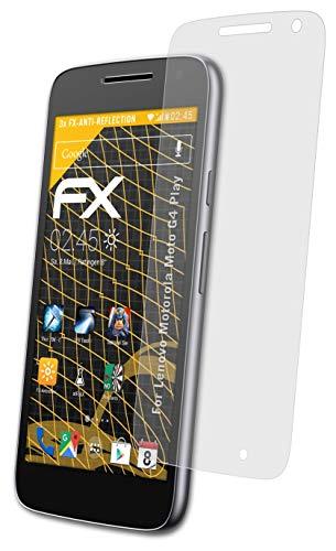 atFolix Panzerfolie kompatibel mit Lenovo Motorola Moto G4 Play Schutzfolie, entspiegelnde & stoßdämpfende FX Folie (3X)