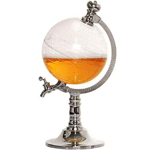 Jolly Dispensador de Licor de Acero Inoxidable - para Brandy Tequila Bourbon Scotch Ron - Regalos Relacionados con el Alcohol para papá (1.5L)