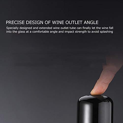 Ein-Knopf-Bedienung Multifunktionaler Weinspender Schwarzweinbelüfter für die meisten Weinflaschen für Abendessen zu Hause, unterwegs - 8