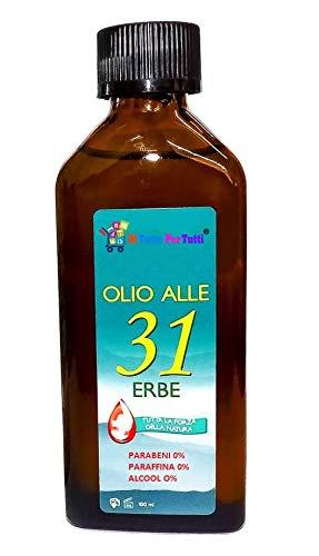 Di Tutto Per Tutti® Olio 31 Erbe Antica Formula Svizzera Utile Contro Mal di Testa e Dolori Al Corpo Senza Parabeni, Paraffina e Alcohol - 100ml