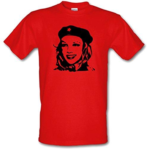 Britney Spears Pop Princess Che Guevara stijl Revolutionair Zwaar Katoen T-shirt