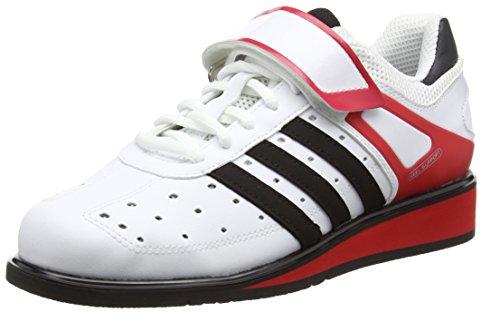 Adidas Power Perfect Ii - Scarpe Sportive Indoor Unisex adulti, Bianco, 49 1/3 EU