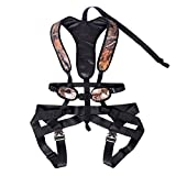 Huntury Tree Stand Safety Harness for Hunting, Quick and Easy to Wear on, Lightweight and Strong, Include Quick Connect Tree Strap