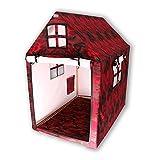 Playhouse con nome camouflage, tenda da gioco per bambini con borsa e tappetino, tenda pieghevole in tela di cotone impermeabile, casetta per bambini per interni ed esterni (rosso)