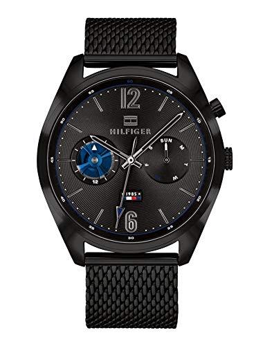Tommy Hilfiger Herren Multi Zifferblatt Quarz Uhr mit Edelstahl Armband 1791547