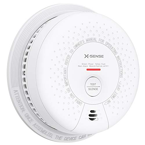 X-Sense Smoke Detector Alarm, 10-Year Lithium Battery Fire Alarm with Photoelectric Sensor, Compliant with UL 217 Standard, Auto-Check & Silence Button, SD03