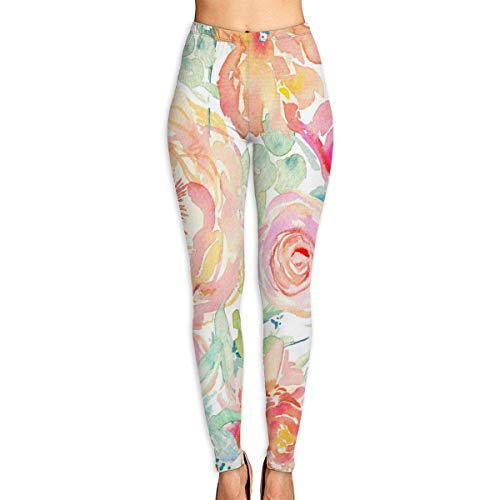 JJsister Damen Pfirsich Bedruckte Leggings Yoga Workout Leggings in voller Länge Hosen Soft Capri