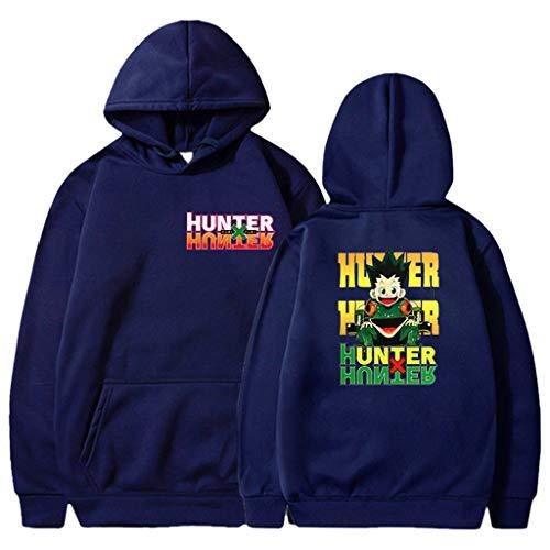 KIACIYA Hunter x Hunter Sudadera para Hombre Mujere Anime Cosplay Sudadera Hunter x Hunter Estampada Sudadera para Fanáticos del Anime Japonés Killua Hisoka Kurapika Leorio (Navyblue2,3XL)