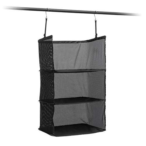 InnovaGoods Estantería Plegable Organizadora De Maletas Organizador para Maletas, 45 cm, Negro