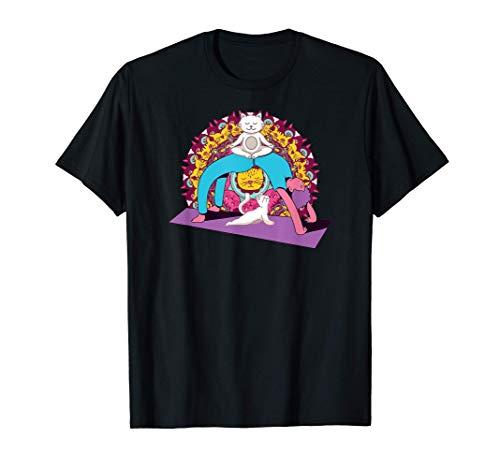 Meditación Mujeresl yoga Mandala Cat Pilates Gato Camiseta