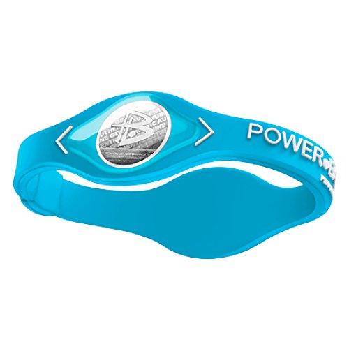 Power Balance Bracciale di silicone, Blu/Bianco, medium