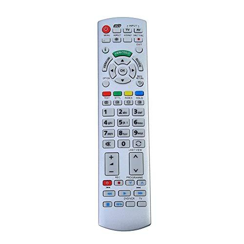 Aeloa TV-Fernbedienung - TV-Fernbedienung Kompatibel mit Panasonic N2QAYB000504 N2QAYB000673 N2QAYB000785 TX-L37EW30 TX-L42ES31