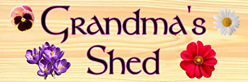 Etch-It-England Personalised Grandma Nan Nanny Potting Shed Flowers Shed Dad Garage Garden Outhouse