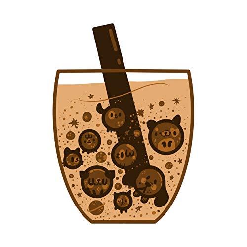 PMSMT 1 Piezas de Papel de Dibujos Animados Cerdo Bebida Burbuja téPegatinasniños Juguetes Libro Pegatina DecorativaCoche Guitarra Pegatinas para Nevera