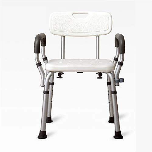 Dusch- und Badehocker Badewanne Dusche Aufzug Stuhl, tragbarer Badesitz, justierbare Dusche Bank, Weiß Badewannenlifter Stuhl mit Arm Rutschfeste Sicherheit zu Hause ( Color : White , Size : 42cm )