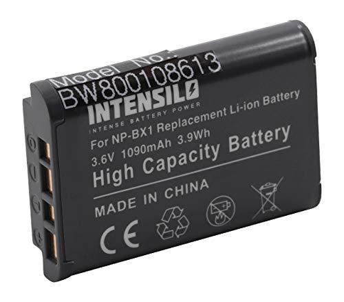 INTENSILO Li-Ion Batteria 1090mAh (3.6V) per Fotocamera Camcorder Video Sony Camcorder HDR-AS30V/B HD Flash Action Cam, HDR-GW66 come NP-BX1.