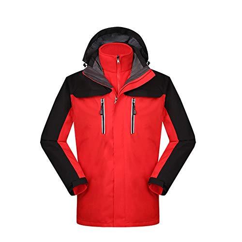 Nvshiyk Chaquetas Ligeras Softshell para Hombre Chaqueta de Invierno cálida y Viento a Prueba de Viento for Hombres Monos de montañismo en Rojo Transpirable al Aire Libre (Color : Rojo, Size : M)