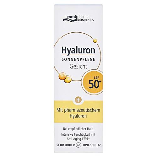 Medipharma Cosmetics, HYALURON SONNENPFLEGE Gesicht Creme LSF 50+ 100 g, farblos, 50 ml