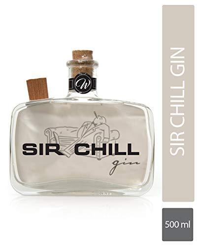 SIR CHILL - Belgischer Premium Dry Gin (1 x 0,5 l) in markanter Glasflasche mit Korkverschluss, Handcraftet - 37,5% vol. Alkohol