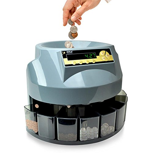 Pyle Automatic Coin Sorter Counter - LCD Display Screen,...