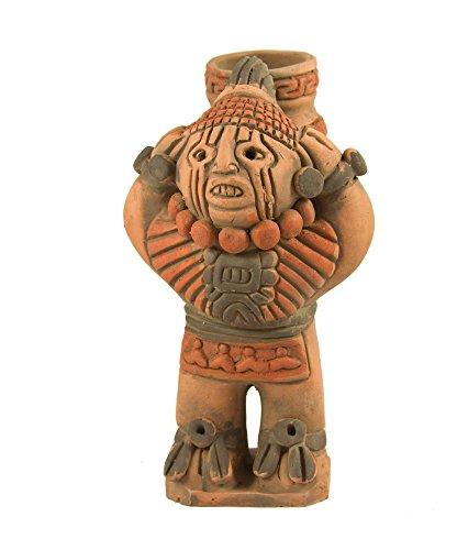 Xipe Totec Aztec Keramik Figur–Fair Trade aus Mexiko, für den Innen- und Außenbereich L11x H20cm