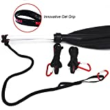 Paddle Leash Safety Rod Bungee Rod Holder Gripping Gear Leash with Innovative...