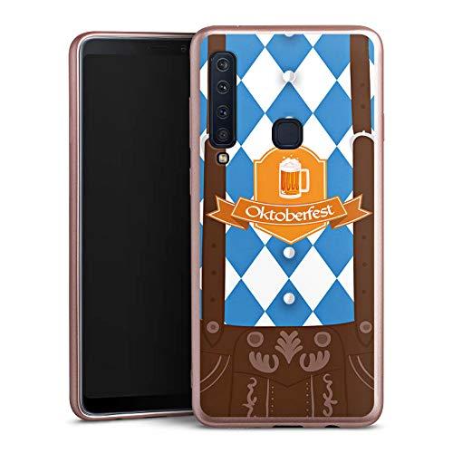 DeinDesign Silikon Hülle Rosé Gold Case Schutzhülle kompatibel mit Samsung Galaxy A9 (2018) Oktoberfest Lederhose München