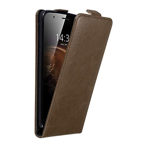 Cadorabo Hülle für Huawei G7 Plus / G8 / GX8 in Kaffee BRAUN - Handyhülle im Flip Design mit Magnetverschluss - Case Cover Schutzhülle Etui Tasche Book Klapp Style