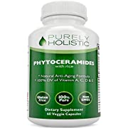 Phytoceramides Skin Therapy Supplement 60 Capsules 100% Rice Based 100% Natural Vegetarian Capsules 100% DV of Vitamin A,C,D & E with No Fillers or Artificial Ingredients