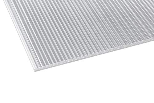 Acrylshop24 Acrylshop24 Stegplatte aus Polycarbonat mit X-Struktur  Doppelstegplatte  16mm stark   Steg 3 Fach   16/20/3 980mm x 6000mm