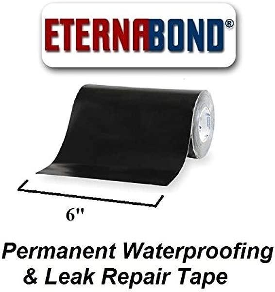BLACK Eternabond Mobile Home RV Rubber Roof Repair 6 X 10 10 Foot 10 Feet