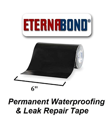 EternaBond Black Mobile Home RV Rubber Roof Repair 6' x 10' - 10 Foot, 10 Feet