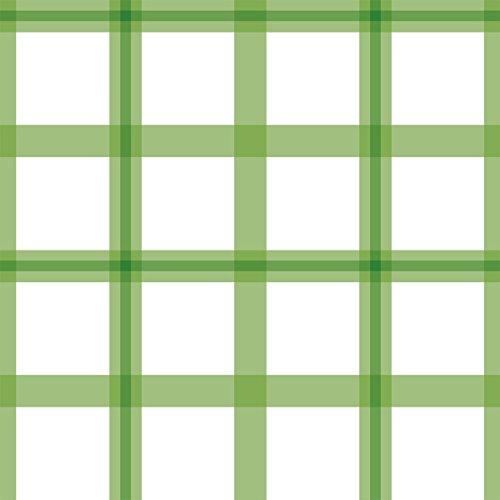 Groene modern Karo behang in Schotse look - vliesbehang strepen Karo verschillende maten - klassieke wanddecoratie - GMM design behang - wandbehang - wand decoratie (baanbreedte: 46,5 cm) Grote ruit MUSTER (20cm) groen