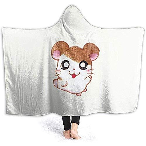 Biubiu-Shop Ham Taro hoodie deken coral pluche Ultra Soft pluche Sherpa gevoerd vrijetijdskleding hooded Throw wrap 60 x 50 inch