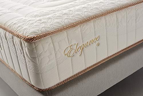 Colchón 150x190 cm Elegance - Altura +/- 30 cm – Muelles ensacados - Espumación Viscoelástica – Alta Densidad – Firmeza Media/Alta - Multizona de Confort - Independencia de lechos