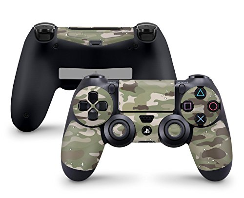 Skins4u Controller Aufkleber Design Schutzfolie Skin kompatibel mit PS4 Sony Playstation 4 FC Camo