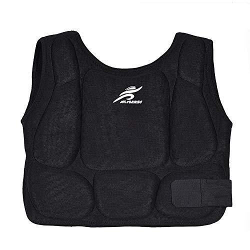 Comaie Brustschutz für Erwachsene, Kinder, Taekwondo-Training, Kampfsport, Boxen, Körper, Brustbekleidung, Schulterschutz, Weste, Armschutz, Schutz für Rippen, Bauch (S)