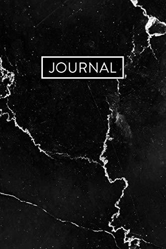 Journal: Black Marble Notebook (6x9)