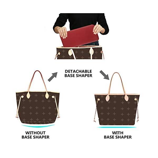 CHICECO Handbag Base Shaper for LV Neverfull MM Speedy 30, Vegan Leather and Felt