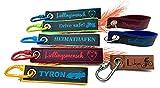 Personalisierterer 2-lagiger Schlüsselanhänger aus Leder und Filz   Dual color   Wunschtext & Motiv