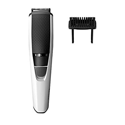 Philips Series 3000 Beard & Stubble Trimmer/Hair Clipper (0.5 mm - 10 mm) with Stainless Steel Blades - BT3206/13 by Philips