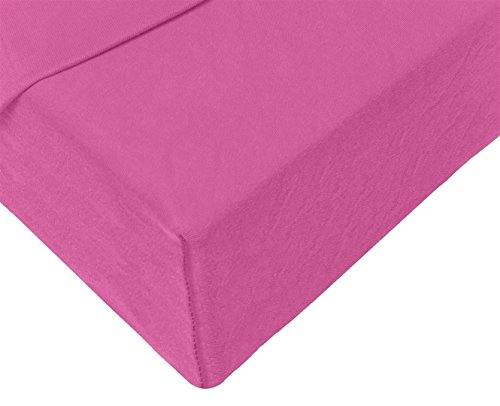 Double Jersey – Spannbettlaken 100% Baumwolle Jersey-Stretch bettlaken, Ultra Weich und Bügelfrei mit bis zu 30cm Stehghöhe, 160x200x30 Lila - 4