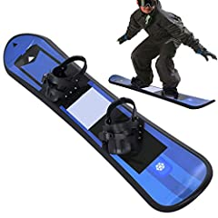 💕【KIDS BEGINNER SNOWBOARD】💕Great choice to introduce kids to snowboarding in backyard or on nearby sledding hill.Flexible snowboard that's perfect for entry-level snowboarding in your backyard or local sledding hill 💕【BINDING STRAPS】💕Pre-mounted kids...