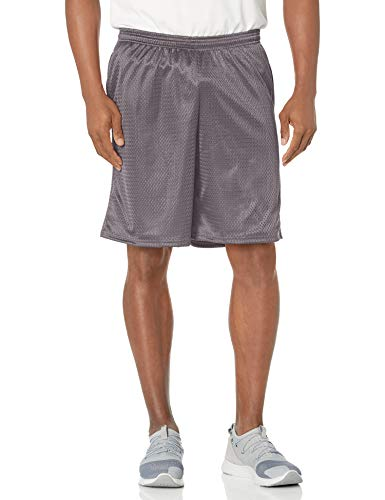 Hanes Men's Sport Mesh Pocket Short, Railroad Gray, Medium