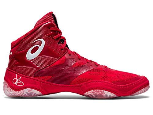 ASICS Men's JB Elite IV Wrestling Shoes, 11.5M, Classic Red/White
