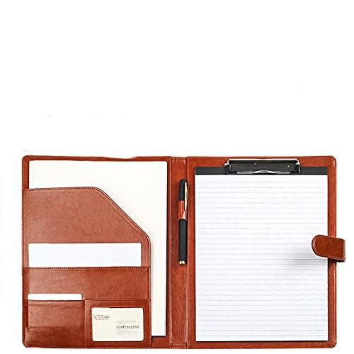 exari Cartella Display Multifunzione Organizzatore di File A4, Appunti Multi-Scheda, Hardware, Raccoglitore in Pelle, Ufficio/Scuola/Commerciale-Black